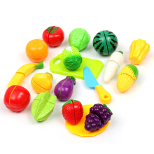16Pcs Kids Children Kitchen Role Play Fruit Vegetable Cutting Food Set Toy