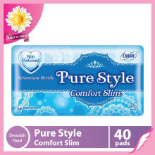 CHARM Pantyliner Pure Style Comfort Slim Non Perfumed 40 pads