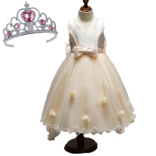 Anamode Girls Dresses Luxury Flower Long Tail Princess Dresses Kids Clothes Bow Wedding Gown -