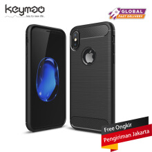 Keymao Apple Iphone X Case Soft TPU Silicon Full Protect Cover Black
