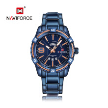 NAVIFORCE Luxury Men Fashion Sports Watches Men's Quartz Man Stainless Steel Wrist Watch Relogio Masculino