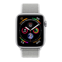 Apple Watch Series 4 GPS 44mm MU6C2 Silver Aluminum Case with Seashell Sport Loop