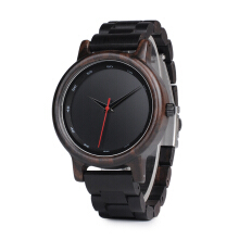 PEKY Men high quality watch bamboo wooden watch Black