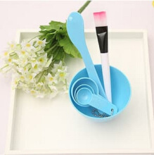 Mangkok Peracik Masker Wajah DIY 4in1 Mask Bowl Tool 1 Set - Biru