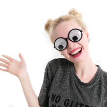 Funny Googly Eyes Goggles Shaking Eyes Party Glasses and Toys for Party Cosplay Costume