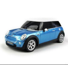 Jantens Toys Best Quality 1:24 Scale Medium Mini Cooper RC Car Model Radio Controlled Car Remote Controll Car Toys Blue