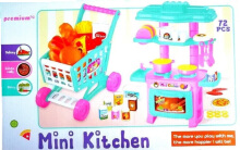 MAINAN EDUKASI MASAKAN MINI KITCHEN SHOPPING CART 2IN1