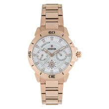 Expedition E 6758 BF BRGSL Ladies White Dial Rose Gold Stainless Steel Strap [EXF-6758-BFBRGSL]