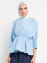 Bel.Corpo Moshe Top - Biru Light Blue All Size