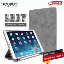 Keymao Apple New iPad 2018/iPad Air 1/Air 2/2017 9.7/Pro9.7 case Luxury Soft Leather Stand Cover Pencil Tablet Leather Pen Slot