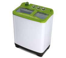 Sanken TW-1130GR Mesin Cuci Twin Tub [9 kg] White Green
