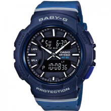 Casio Baby-G Athleisure Series BGA-240-2A1DR Ladies Digital Analog Watch Blue Resin Band Dark Blue