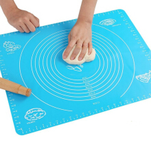 Anamode Non-stick Grid Silicone Liners Mat Dough Rolling Heat Resistant Food Pads - Blue