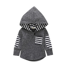 BESSKY Toddler Infant Baby Boys Striped Hoodie Pocket Sweatshirt Pullover Tops Clothes _