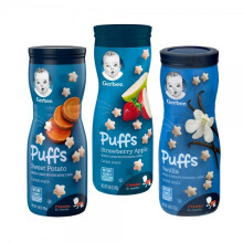 Gerber Puff Combo C (Sweet Potato, Strawberry Apple, Vanilla)