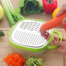 Jantens 2 piece set of fruit and vegetable tools kitchen accessories fast vegetable slicer 2 in 1 grinder Green