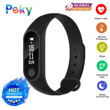 PEKY M2 Bluetooth Smart watch Heart Rate Monitor Fitness Sleep Tracker Smartband for ios Android