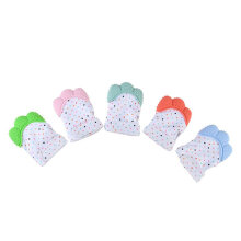 [kingstore] Silicone Baby Mitt Teething Mitten Glove Candy Wrapper Sound Teether Light Green