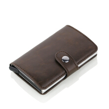 Jantens 2018 New Crazy horse Leather Credit Card Holder
