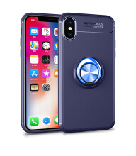 Jantens For Apple iPhone X Magnetic Suction Bracket Finger Ring TPU Soft silicon shockproof back cover