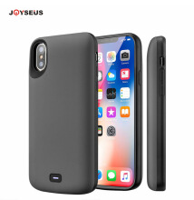JOYSEUS Apple iPhone X Battery Charger Case Real 5000mAh with Audio Output Anti-knock No Chin TPU Shell Grey
