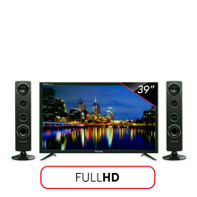 POLYTRON LED TV 39 Inch FHD - PLD40TS153 [Speaker Tower]