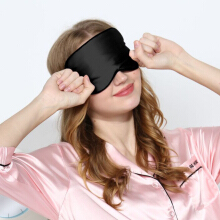 Cocobla Adjustable Silk Sleeping Eye Masks Black