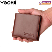 YOOHUI Dompet pendek pria mode baru Korea Cross-section multi-card wallet