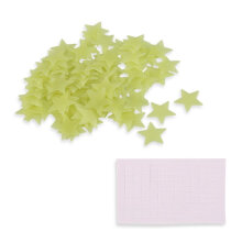 [COZIME] 100PCS Home Wall Glow In The Dark Stars Stickers Decal Dreamy Noctilucent Light Green1