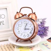 Bellylady 3Inches Retro Metal Mute Movement Noctilucence Alarm Clock Bedside Supplies Style:Bronze