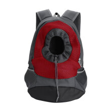 [kingstore]OUTAD Breathable Portable Pet Carrier Backpack With Adjustable Wide Straps Red Red & Gray large