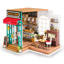 Jantens Children Adult Miniature Wooden Doll House Model Building Kits Dollhouse Photo Color