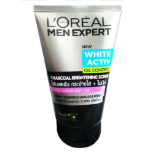 L'oreal Men Expert White Active Oil Control Charcoal Brightening Scrub 100ml