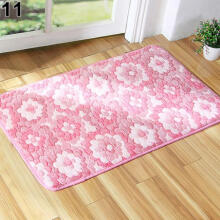 Farfi Flower Puzzle Maple Leaf Pattern Bedroom Home Office Bath Rug Carpet Door Mat