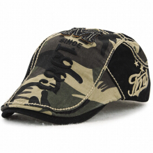 JAMONT Men's 2018 New Outdoor Casual Embroidery Letter Camo Cap