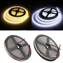 5M 15W DC12V 600 SMD 2835 Waterproof IP65 White/Warm White Tape LED Flexible Strip light Pure white