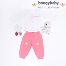 BOOGY Baby Royal Edition Charlotte's Carriage Long Top + Trousers, Bear, Box (0-3 Months)