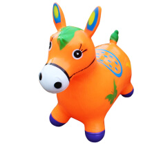 Kaptenstore New Jumping Animal Musik Tunggangan Kuda Karet Warna Hijau Orange