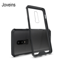 JOVEINS One Plus 6 Phone Case Shock-Absorption Bumper Style Premium Hybrid Protective Clear Cover