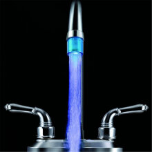 [OUTAD] 7 Colors Changing NO Battery LED Water Faucet Tap Heads Glow Blue