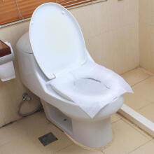 Farfi 10 Sheets Disposable Toilet Seat Cover Mat Travel Toilet Paper Pad