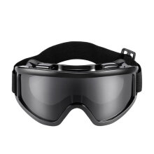 [COZIME] PC Lens Goggles Protective Glasses Protect Eyes Mask Dust-Proof Wind-proof Black1