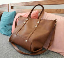 Tote Bag Zaskia Basic Brown Semi Ori Plus Tali Selempang 3289 Beauty Gum