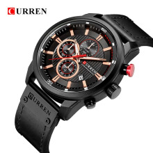 CURREN Luxury Brand Men Analog Digital Leather Sports Watches Men's Army Military Watch Man Quartz Clock