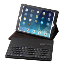 Apple iPad 6 / Air 2 Bluetooth Keyboard Optical Ultra Thin Leather Protective Case Black