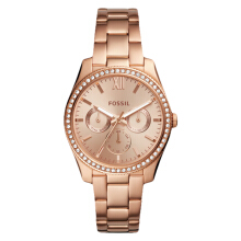 Fossil ES4315 Ladies Scarlette Multifunction Rose Gold Dial Rose Gold Stainless Steel [ES4315]