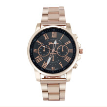 PEKY Colorful Women Men Fashion Watch Roman Digital Stainless Steel Large Dial Quartz Sports Watch