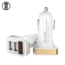 WH Max 2.1A Car Charger LCD Display Dual USB Port for iPhone iPad Samsung Xiaomi Phone Charging Adapter Car-charger Double USB