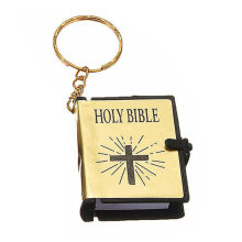Jantens Cute Mini English HOLY BIBLE Keychain Religious Christian Jesus