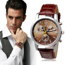 PEKY Top brand men watch luxury imitation belt analog quartz watch